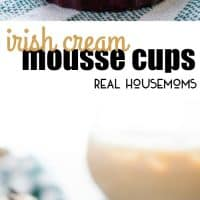 These Irish Cream Mousse Cups are an easy, 5-ingredient recipe, that's perfect for St. Patrick's Day!