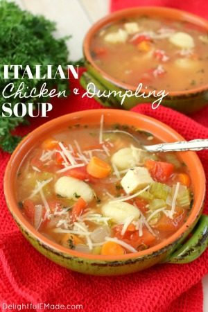 Italian Chicken and Dumpling Soup by Delightful E Made