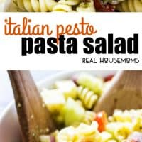 Italian Pesto Pasta Salad this flavorful side dish is guaranteed to be the star of every potluck or get-together you attend. The addition of the pesto turns this classic pasta salad into a summer must have!