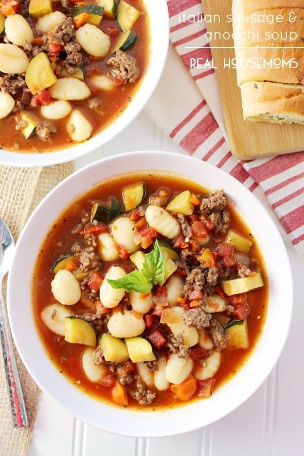 Italian Sausage & Gnocchi Soup - Real Housemoms