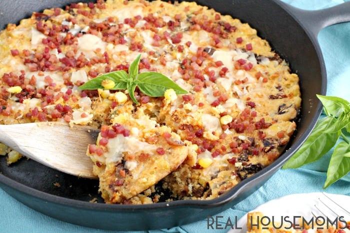 This ITALIAN STYLE CREAMY CORN CASSEROLE RECIPE is not your grandmother's corn casserole!