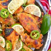 Jalapeno Lime Chicken Wings are sweet and spicy baked wings perfect for parties or watching the big game. A unique flavor everyone will love!