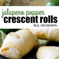 These Jalapeno Popper Crescent Rolls are made with pre-made crescent roll dough and with a simple jalapeno popper inspired filling.  They take just 15 minutes to assemble and are sure to be a showstopper!