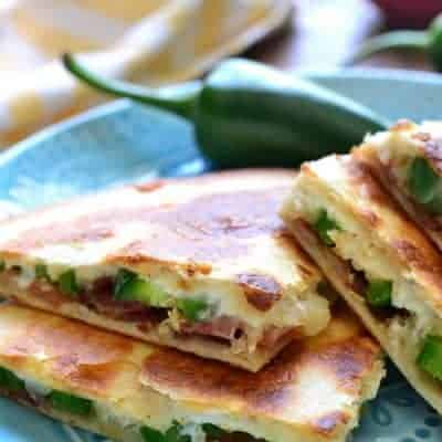 Jalapeño Popper Quesadillas