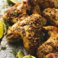 Easy marinated and grilled or baked jerk chicken wings are bursting with savory, spicy flavors that will leave you craving more!
