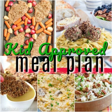 Making your family a home-cooked meal doesn't have to be hard with this Kid Approved Meal Plan! Parent tested, kid devoured meals your family will love!