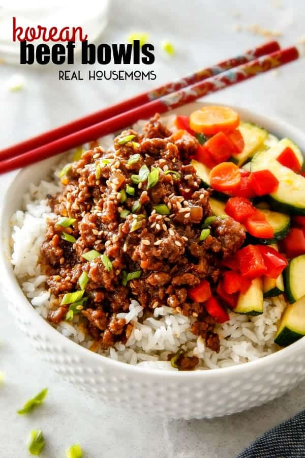 Budget friendly Korean Beef Bowls on your table in less than 30 minutes, bursting with flavor and one of the absolute easiest meals you will ever make!