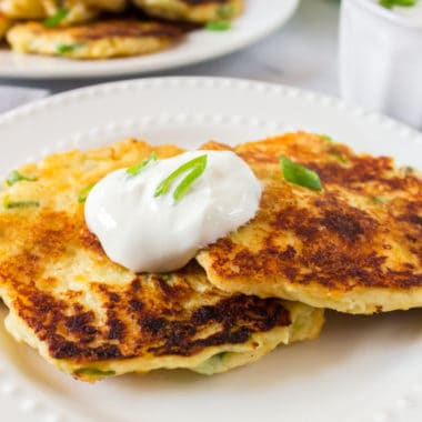 Potatoes are popular for so many holidays and family dinners! My family loves when I make mashed potato pancakes for breakfast the next day! With a few simple ingredients, you can turn last night's side into your morning meal!