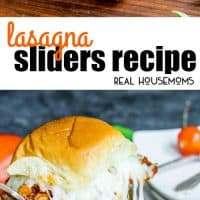 These Lasagna Sliders are bite sized sandwiches filled with all of the flavors of a classic lasagna! They're the perfect bite for your next party!
