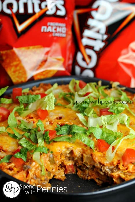 Layered Doritos Casserole - Spend with Pennies