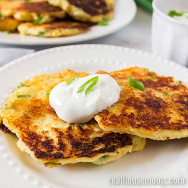Leftover Mashed Potato Pancakes ⋆ Real Housemoms