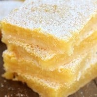 These LEMON BARS are not only super easy to make, but taste amazing! They are buttery, tart, smooth, and delicious. Definitely worth making!