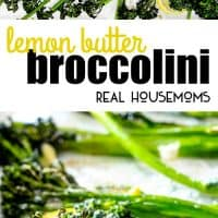 This Roasted Lemon Butter Broccolini is one of the simplest yet tastiest side dishes you will ever make! It's delicious enough for company, easy enough for every day!