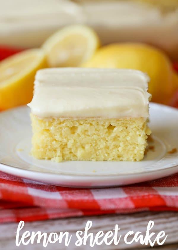 Lemon Sheet Cake - Lil' Luna