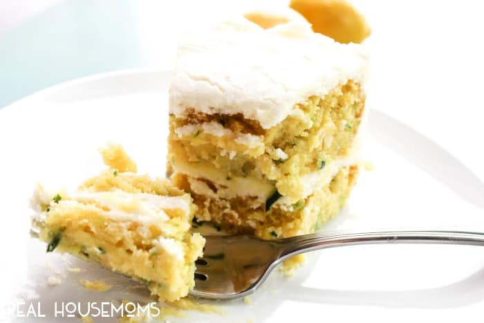 Spring and summer collided on a plate and brought you this delicious LEMON ZUCCHINI CAKE!