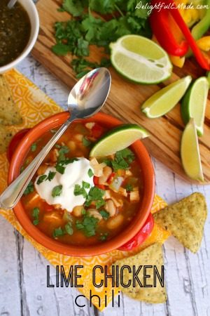 Lime Chicken Chili by Delightful E Made