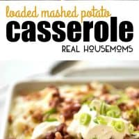 These aren't your typical mashed potatoes. This Loaded Mashed Potato Casserole is packed with BACON and CHEESE! It's creamy, salty, cheesy, and it tastes so good!
