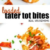 Loaded Tater Tot Bites are crisp tater tot cups filled with your favorite loaded baked potato ingredients!