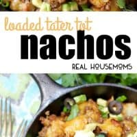 Loaded Tater Tot Nachos make a scrumptious appetizer or snack EVERYONE loves! Crispy potatoes smothered in seasoned meat and melted cheese - yes, please!