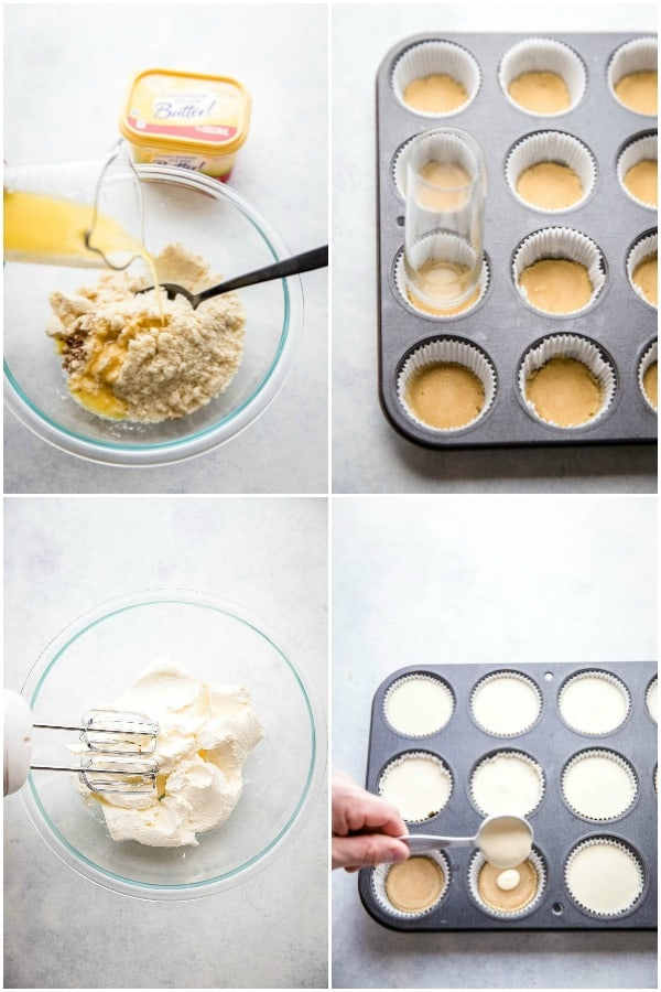 steps to make low carb cheesecake bites