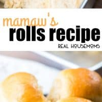 Mamaw's Rolls are a classic yeast roll just like my great-grandma used to make. They're so easy to make & you can even be made ahead of time & frozen.