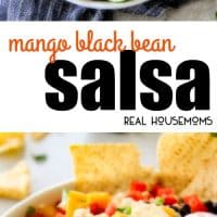 Mango Black Bean Salsa is fresh, vibrant, healthy, delicious and super simple to make! It's a refreshing make-ahead appetizer or the perfect accompaniment to all your grilling entrees!