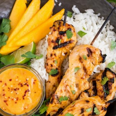 Mango Chicken Skewers