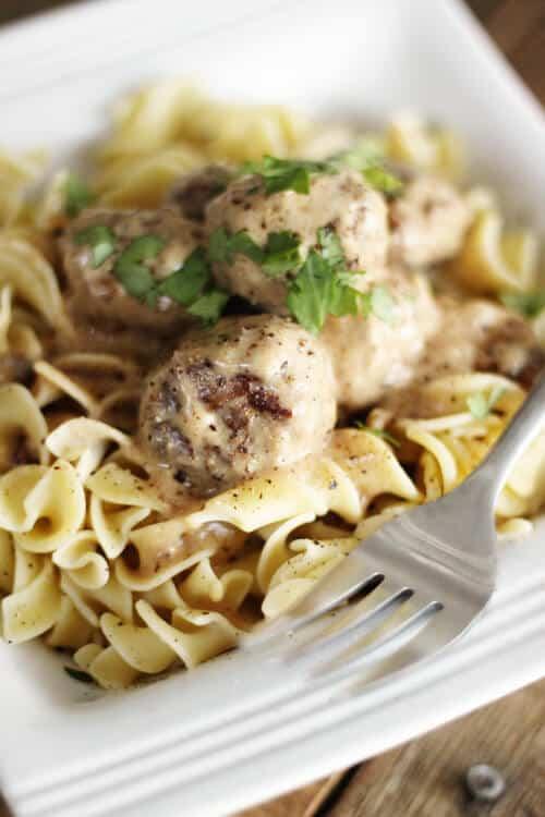 Meatball Stroganoff - Favorite Family Recipes