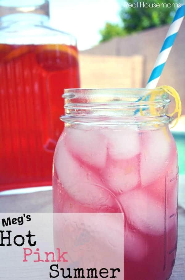 This drink is light and refreshing and because it's a pitcher drink it's perfect for a summer party! There's even and easy mocktail version.