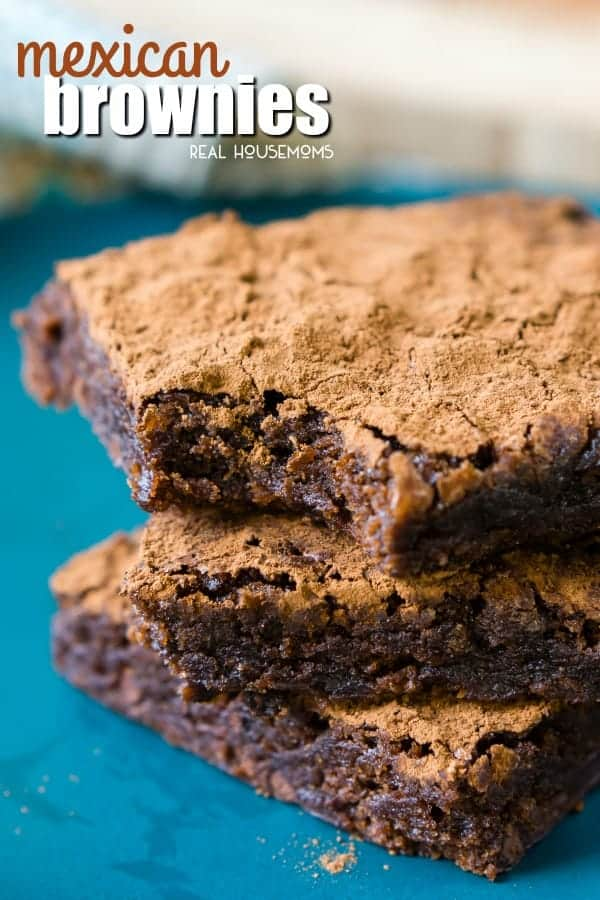 Mexican Brownies are a fun and delicious chocolate dessert! A fudge brownie is laced with hints of cayenne pepper and cinnamon for layers of surprising flavor!