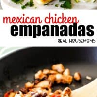 Mexican Chicken Empanadas stuffed with juicy chicken, black beans, bell peppers, and cheese baked in a hot, flaky golden pastry are an irresistible appetizer, dinner, or snack that can be made ahead of time and frozen for later!