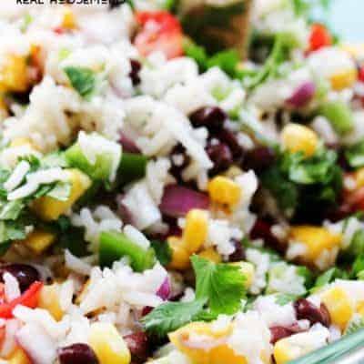 Mexican Mango Rice Salad