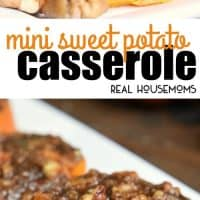 Mini Sweet Potato Casserole is an easy Thanksgiving side dish filled with crunchy pecans, sweet brown sugar, and cinnamon!