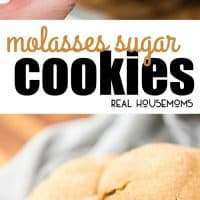 These Molasses Sugar Cookies are the perfect flavor for Christmas. They have the taste of a gingerbread and the softness of a sugar cookie!