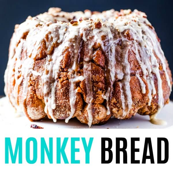 square image of monkey bread with text