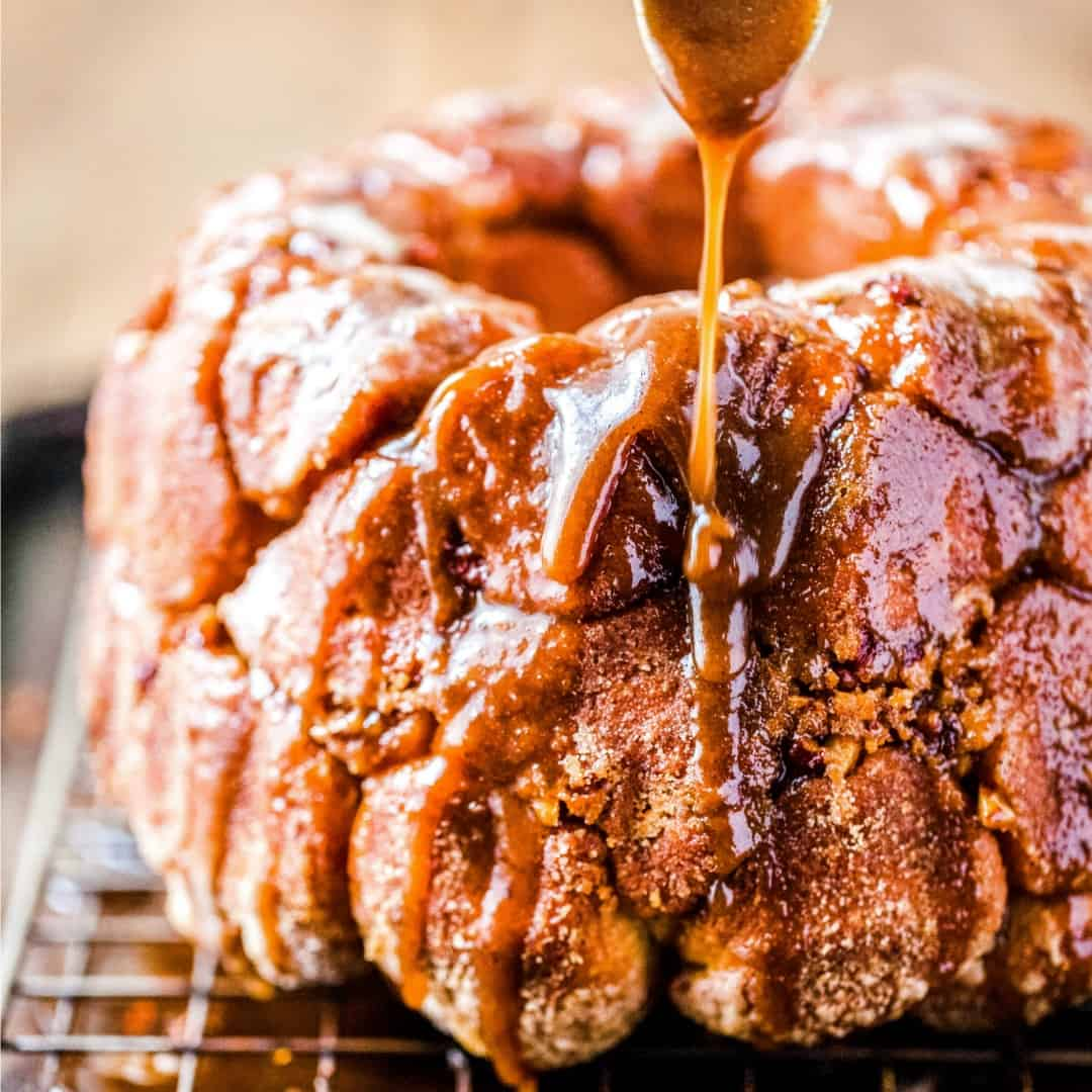 Gooey brown sugar & cinnamon spiced Monkey Bread is going to be your new family favorite treat! Great for dessert or serve it up for brunch!
