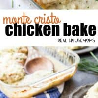 Monte Cristo Chicken Bake is a creamy, hearty chicken bake that is a complete meal in one dish. This chicken bake is flavorful, delicious, and easy to make!