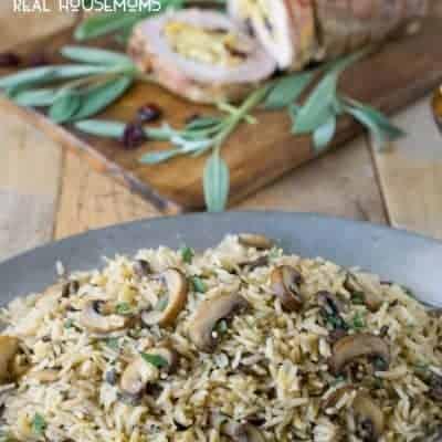 Mushroom and Sage Rice Pilaf