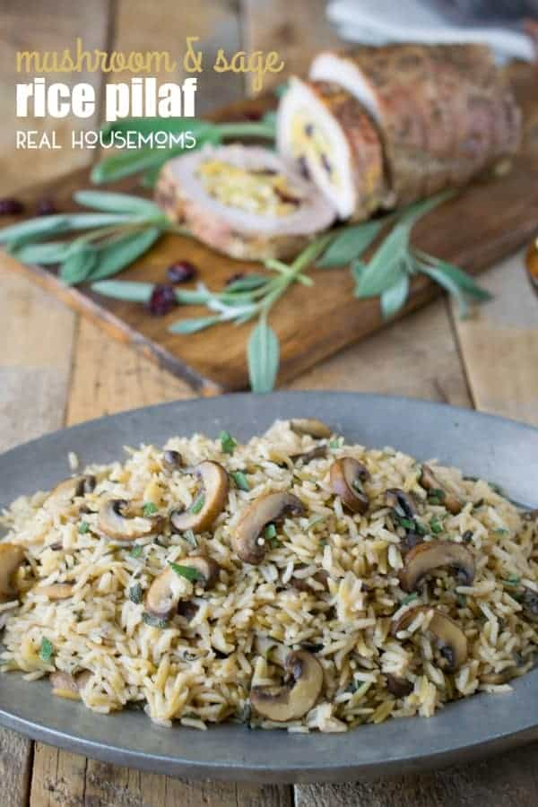 Mushroom and Sage Rice Pilaf is a quick and easy side dish that's full of earthy flavors and wonderfully seasonal!