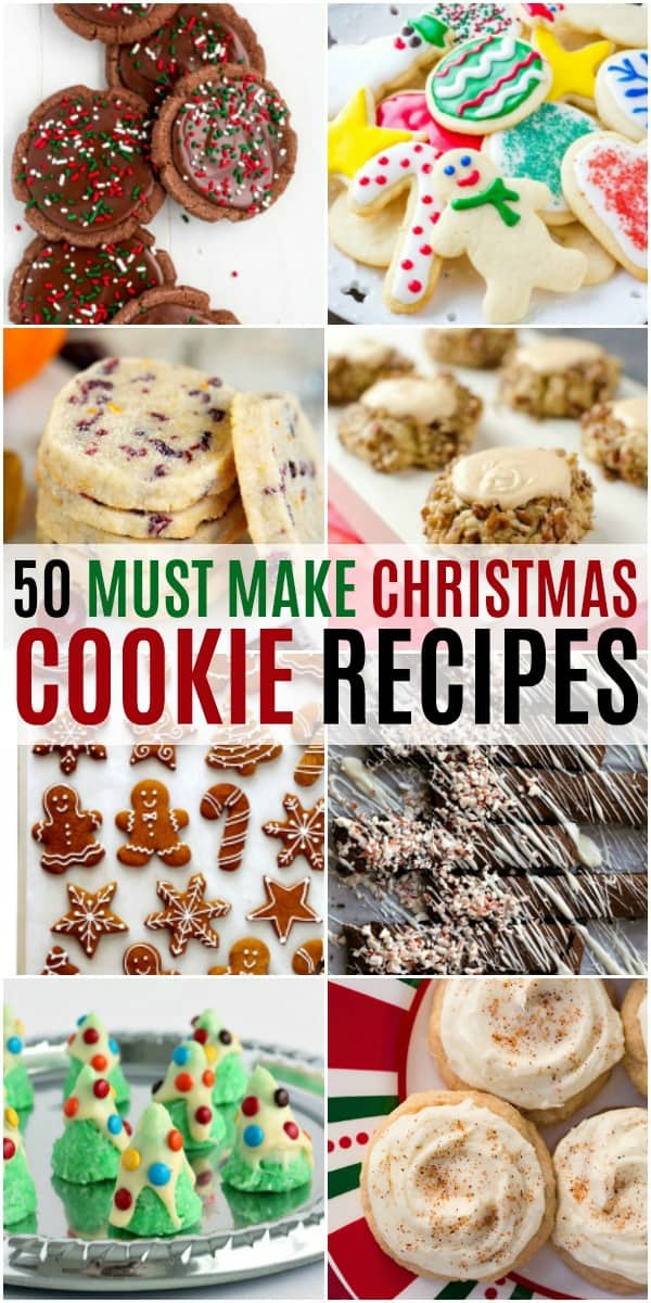 vertical collage of must make christmas cookies