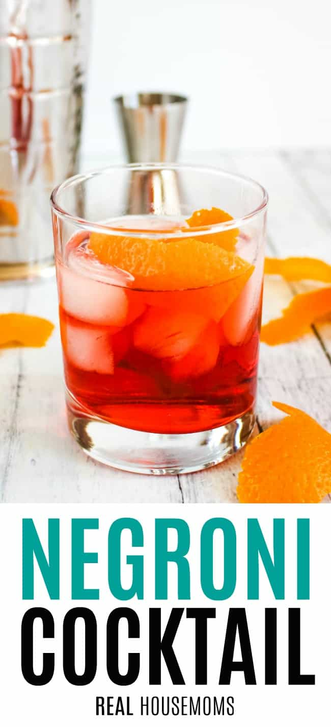 negroni cocktail served in a rocks glass