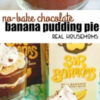 This No-Bake Chocolate Banana Pudding Pie is an easy dessert recipe that combines classic banana pudding with amazing chocolate flavor!