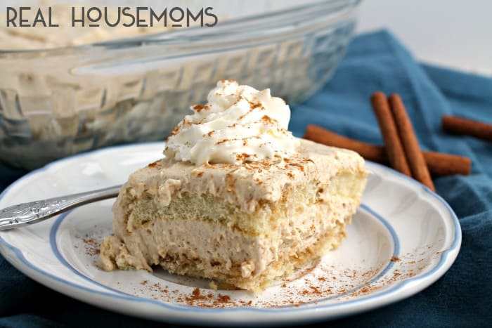 A traditional Italian dessert gets a tasty cinnamon spiced twist in this NO-BAKE CINNAMON TIRAMISU!