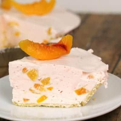 No Bake Peach Chiffon Pie