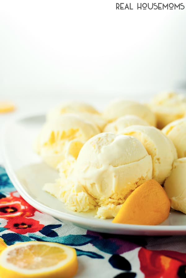 This NO CHURN LEMON MERINGUE PIE ICE CREAM whips up in minutes, then simply freeze and cool off with some creamy lemon goodness!
