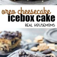 Oreo Cheesecake Icebox Cake is loaded with layers of graham crackers, no bake cheesecake, and OREOS for an easy, no-bake dessert you'll crave!