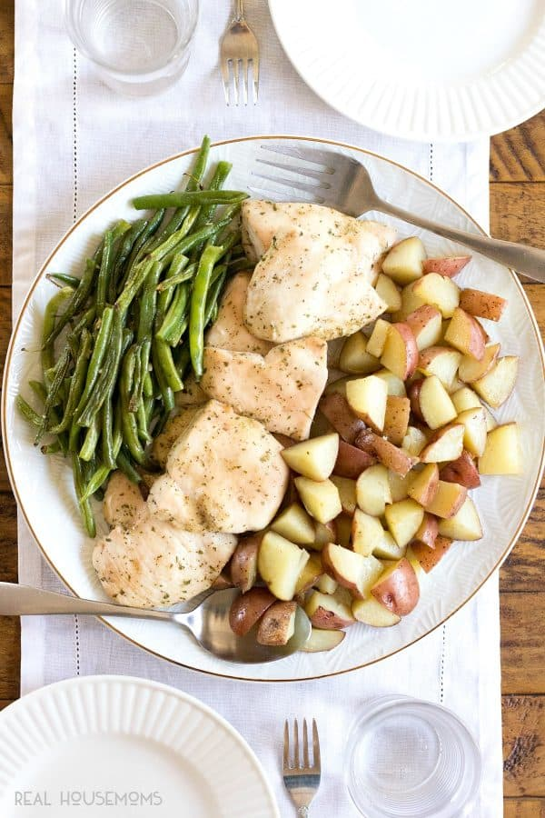This easy One Pan Ranch Chicken Dinner is a guaranteed family favorite!