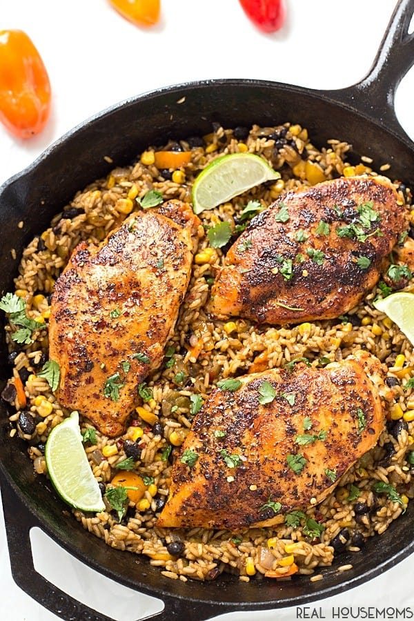 One Pan Tex-Mex Chicken and Rice - Real Housemoms