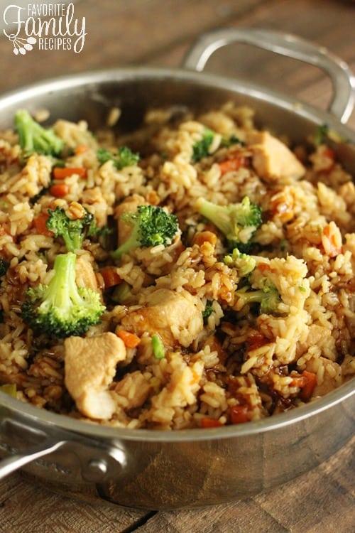 One Pot Chicken Teriyaki Rice Bowls - Favorite Family Recipes