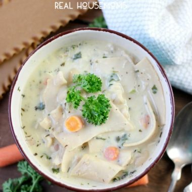 Grab a spoon and dig into this insanely good One Pot White Chicken Lasagna Soup! It's a satisfying one pot comfort food recipe your family will love. It's so simple, yet so delicious!